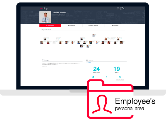 Each employee can access the Talent Management software via browser from any device